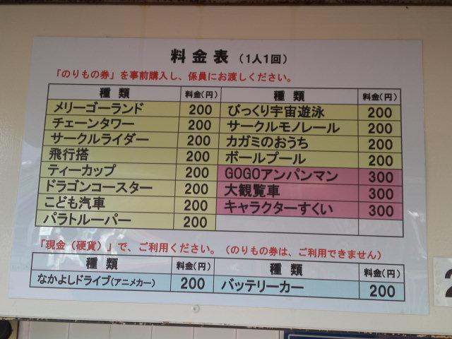 乗り物は「のりもの券」を購入します。