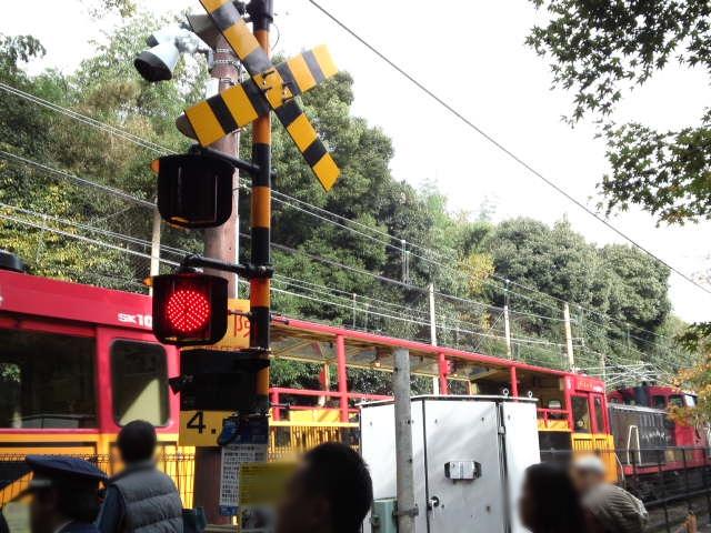 トロッコ嵐山駅はこのすぐ近く