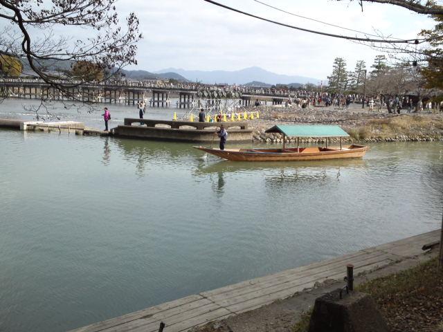 京都の嵐山の「屋形船」