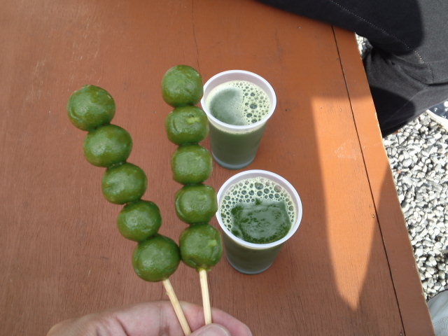 茶だんごとグリーンティー