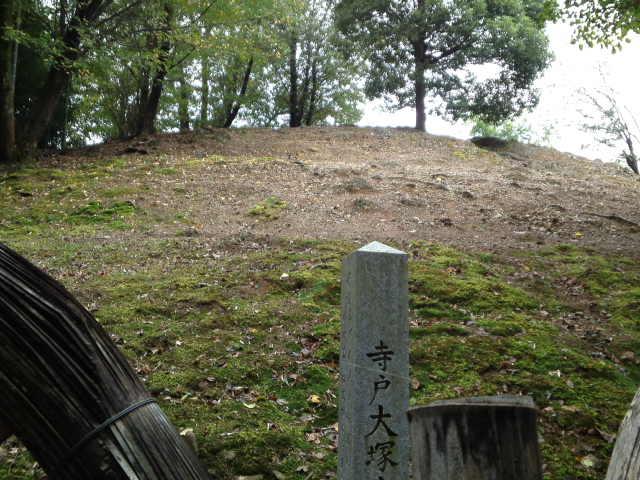 竹林公園へと続く竹林の西側