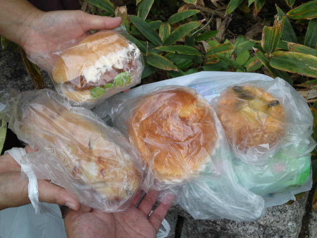 昼食はハヤシベーカリーで買った惣菜パン