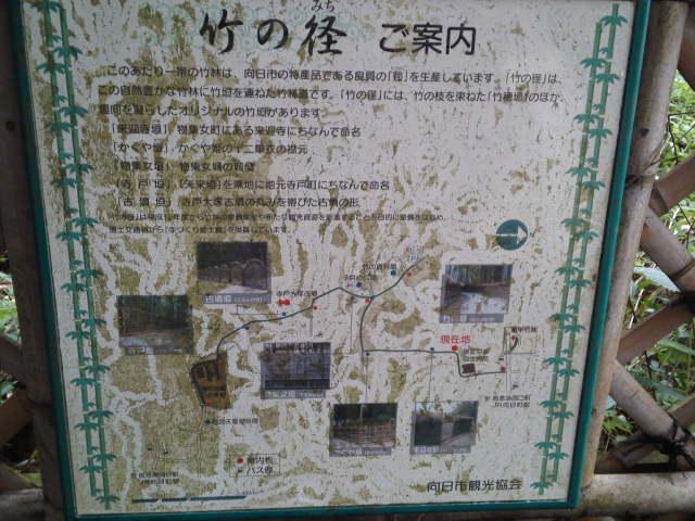 竹の径ご案内と書かれています