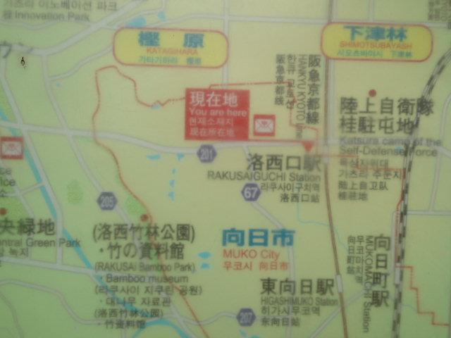 観光案内図を眺めてみる。
