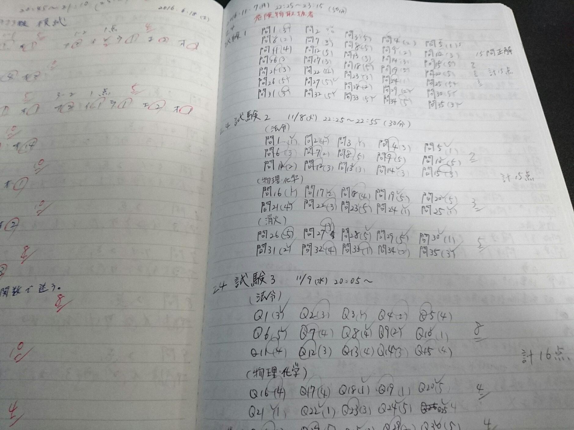 仕事が終わって帰宅してからも、平日はだいたい毎日2時間は乙4の勉強をしていましたね。