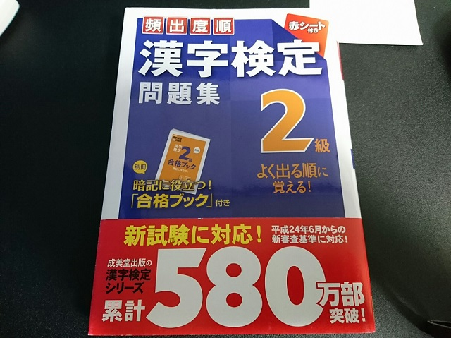 平成24年の漢字検定2級の頻出度順問題集