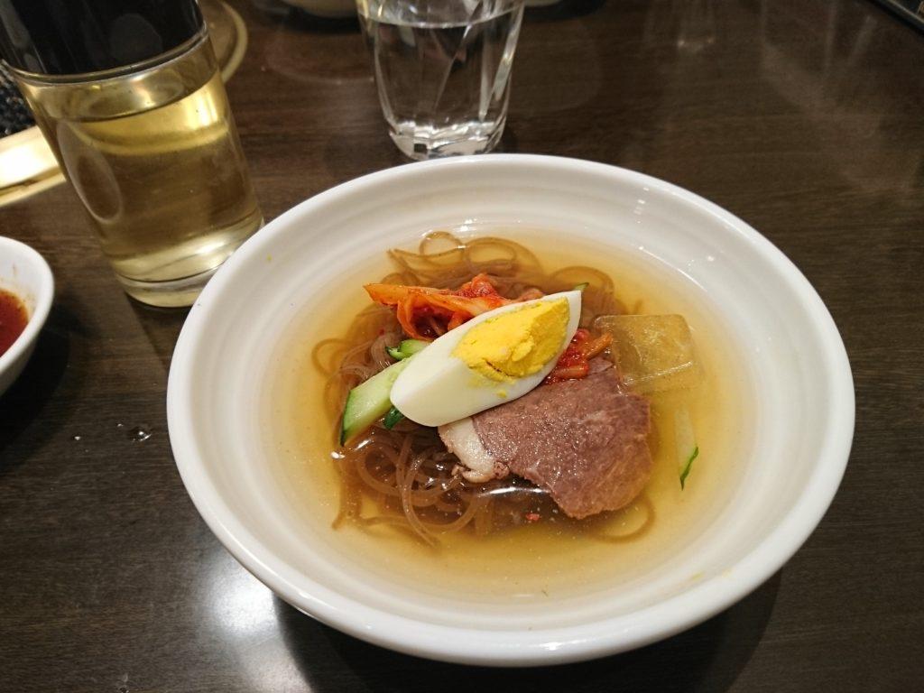 ワンカルビの韓国冷麺。