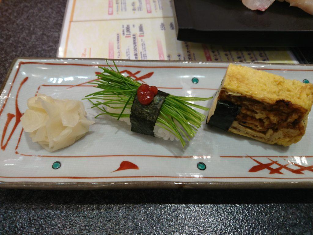 念願の芽ねぎのお寿司!